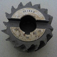 Фреза насадная 80/45 производства Италии. марка стали hss
