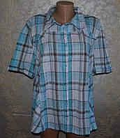 Рубашка в клетку, лето! стильная! супер! хлопок