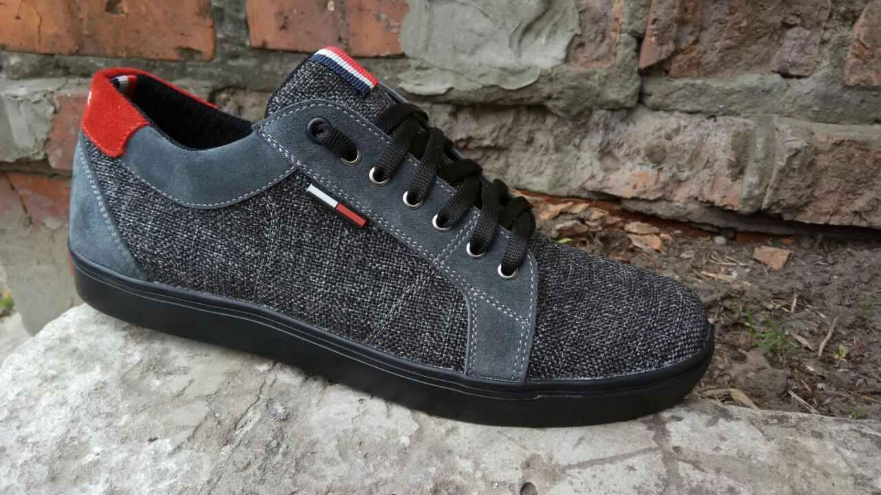 Кеды Tommy Hilfiger (серые) - Vencer desing shoes в Вьетнаме 813e42e95f931