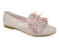 Кожаные женские туфли мокасины Evromoda