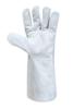 Перчатки Краги без подкладки, серые, длинные