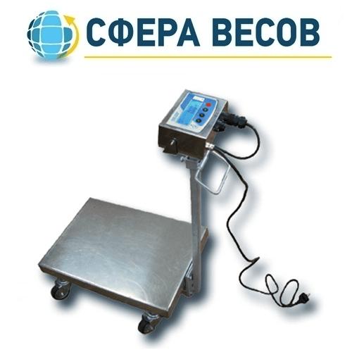 Весы тележка Техноваги ТВ1-12eha (300 кг - 600х700)