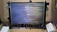 Радиатор охлаждения Ланос 1,5-1,6 без кондиционера ЛУЗАР (алюминиевый сборной)