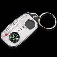 Компас брелок термометр лупа K102