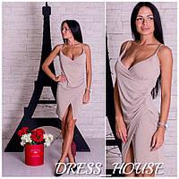 Женское стильное платье на запах,в расцветках