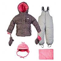 Зимний костюм для девочек с аксессуарами Gusti Boutique GWG 4747 Raven. Размеры 90 - 100.