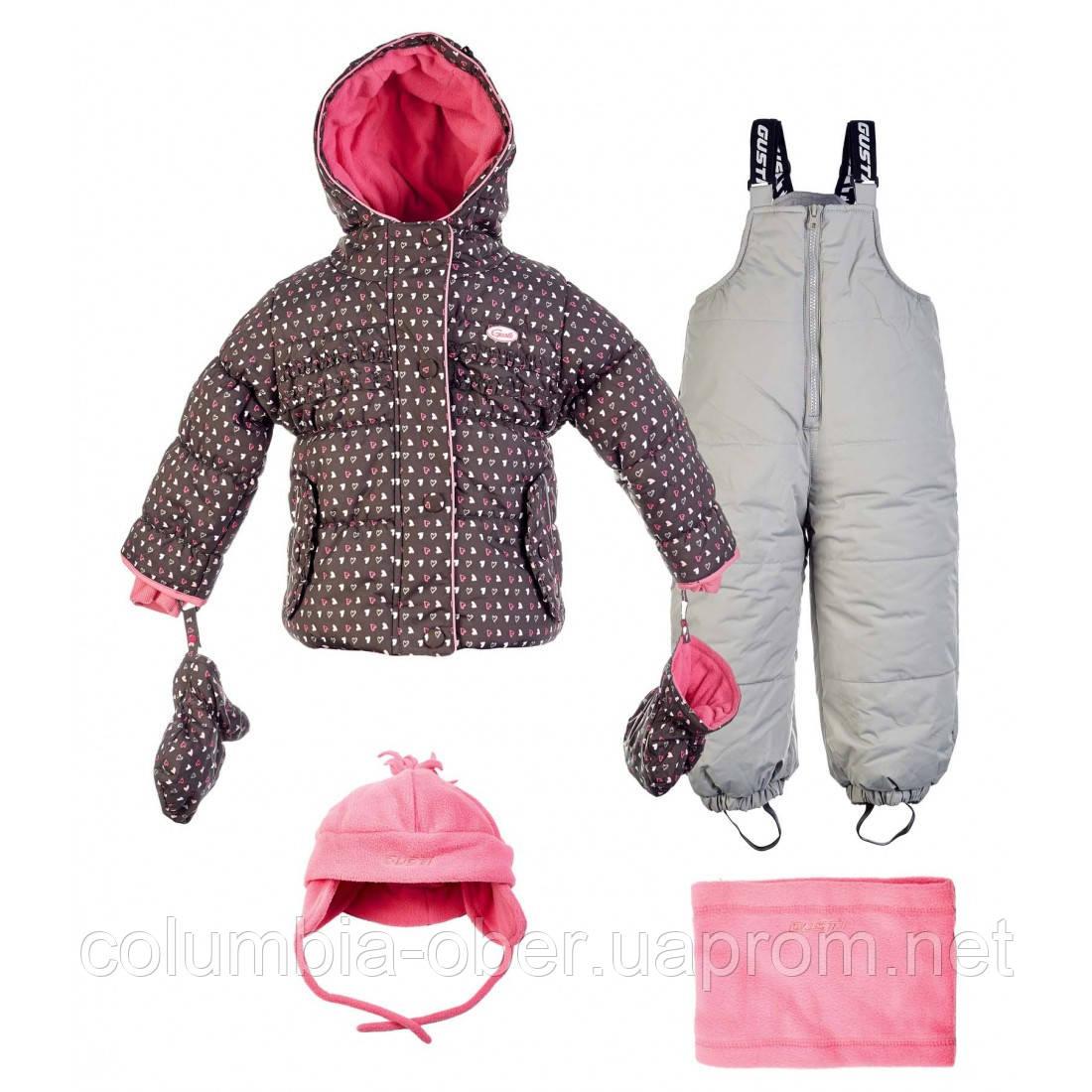 Зимний костюм для девочек с аксессуарами Gusti Boutique GWG 4747 Raven. Размеры 98 и 100.