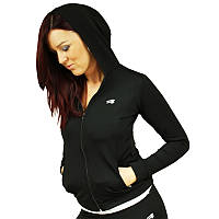 Спортивная женская утепленная кофта Radical Fabulous (original) свободная с капюшоном на молнии черный, L