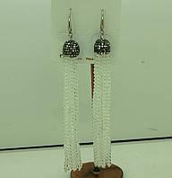 579 Модные серьги подвески, серёжки кисти из камней