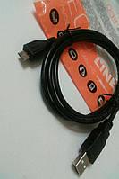 Кабель штекер USB на штекер micro USB длина 1м,цвет чёрный Cabletech Eco-Line