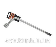 Ключ баллонный торцевой Г-образный удлиненный, 17 мм, серия Стандарт (АвтоDело)