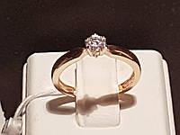 Золотое кольцо с фианитом. Артикул 3522122