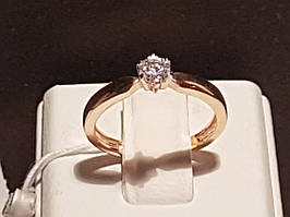 Золотое кольцо с фианитом. Артикул 3522122 16