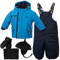 Детский зимний комплект для мальчиков с аксессуарами Gusti Boutique GWB 4610. Размер 86.
