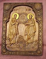 Резная икона СВЯТЫХ АПОСТОЛОВ ПЕТРА И ПАВЛА.