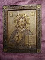 Резня икона Христа Спасителя из дуба.