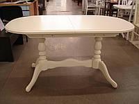 Стол обеденный раскладной Даниэль (Вавилон) ваниль 150(+40)x90х74 овальный деревянный