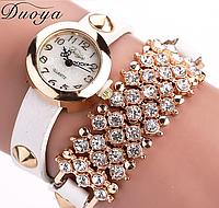 Наручные часы женские с белым ремешком код 99