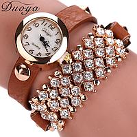 Наручные часы женские с коричневым ремешком код 99