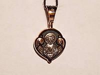 Золота підвіска. Ангел хоронитель. Артикул 11556-Ч, фото 1