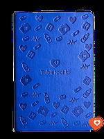 Блокнот двусторонний синий