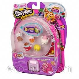 Набір фігурок SHOPKINS S5 - ЧУДОВА ШІСТКА (5 шопкинсов, 1 бонус-шарм, ексклюзивний рюкзак)