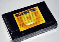 Полимерная глина Пластишка, №0124 черный, 250 г / Полімерна глина Пластішка, №0124 чорний, 250 г