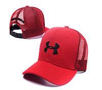 Красная бейсболка Under Armour, с сеткой сзади