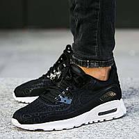 """Оригинальные женские кроссовки Nike Air Max 90 Ultra Plush """"Black"""""""