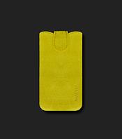 Кожаный футляр Mavis Premium VELOUR 112x61/116x63 для iPhone 3G/3GS/Nokia X/X+ (Желтый) 30903