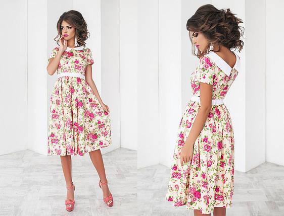 Платье миди в крупный цветок, фото 2