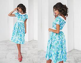 Платье миди в крупный цветок, фото 3