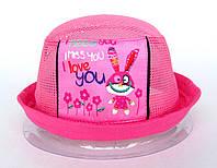 Нежная розовая шапочка из сетки