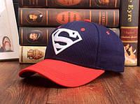 Стильная кепка Superman, синяя с красным