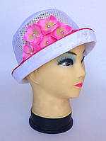 Летняя  шапка с цветочками