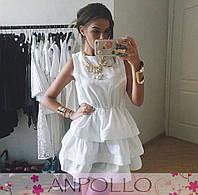 Красивое платье с воланами из хлопка 0546