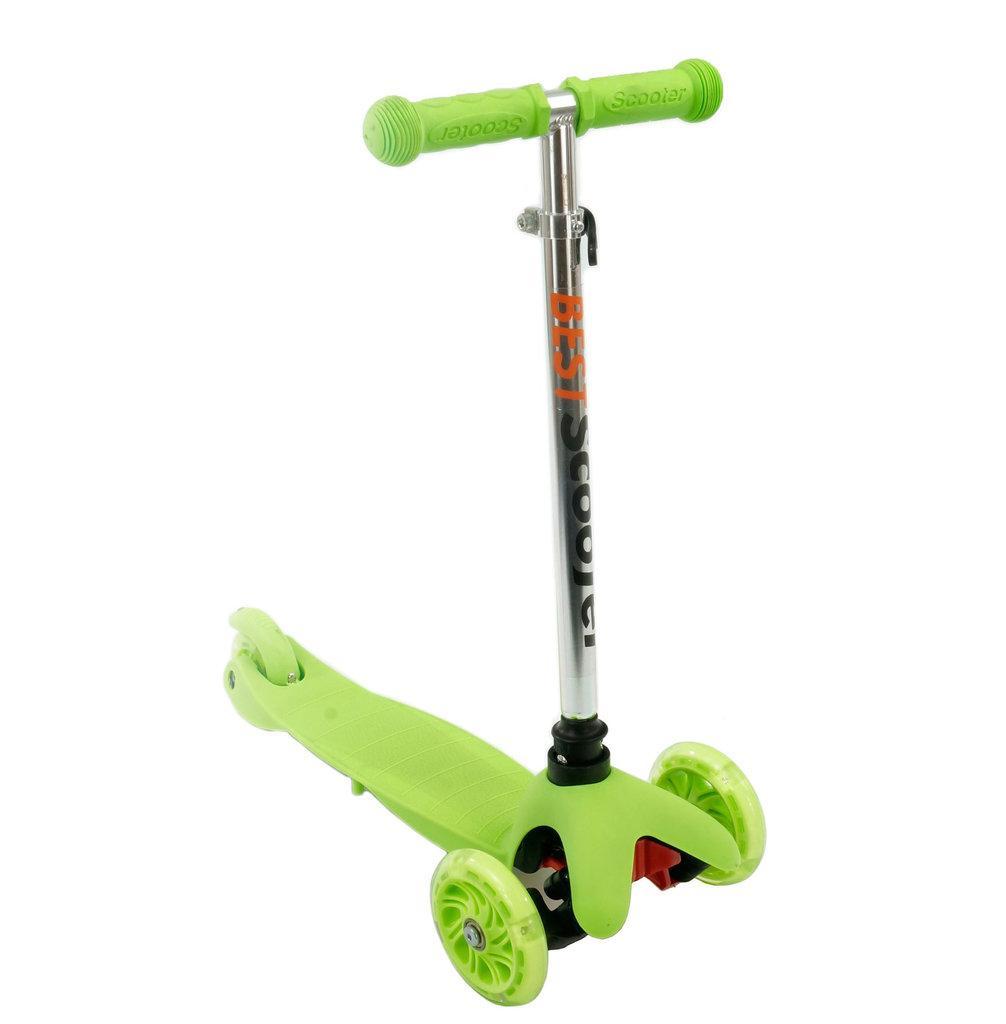 Самокат трехколесный Best Scooter 466-112 зеленый