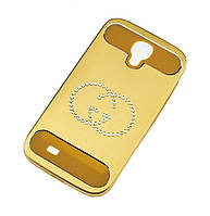 Чехол со стразами для Samsung i9500 Galaxy S4 Gucci золотистый