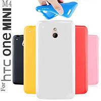 Силиконовый чехол для HTC One mini M4 белый