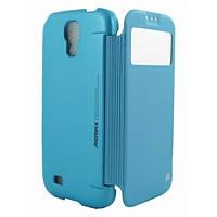 Чекхол книжка для Samsung i9500 Galaxy S4 Remax Ice Cream голубой
