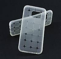 Силиконовый чехол для Samsung G935 Galaxy S7 Edge квадрат прозрачный