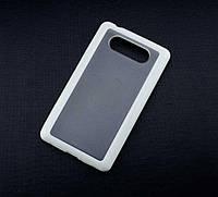 Силиконовый чехол для Nokia Lumia 820 бампер белый