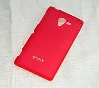 Силиконовый чехол для Sony Xperia ZL C6503 красный