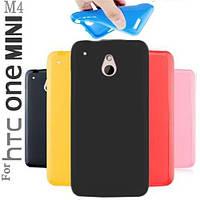 Силиконовый чехол для HTC One mini M4 черный