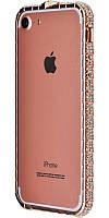 Бампер для iPhone 5 камни Swarovski розовый