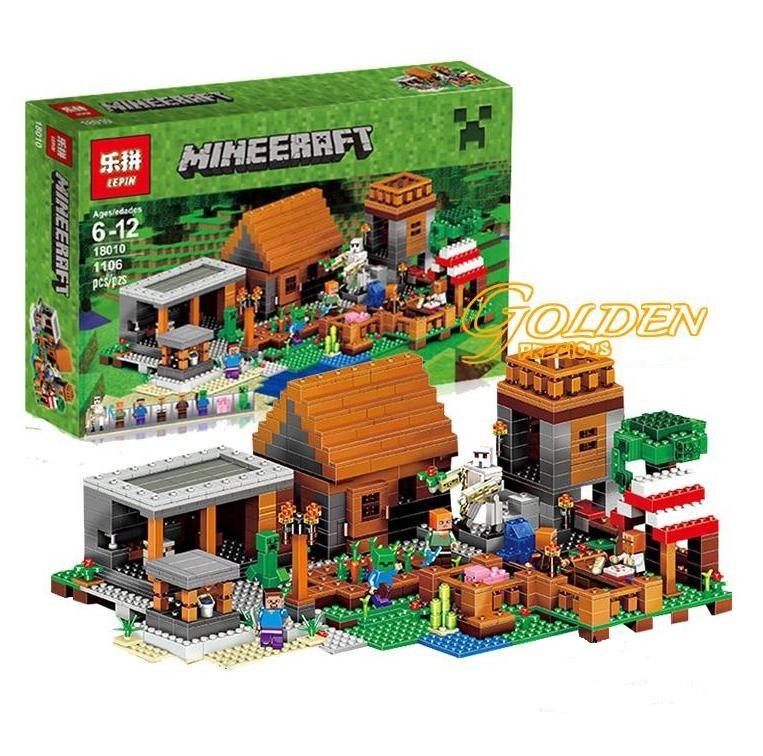 c6f49ae5b5c Конструктор Майнкрафт Minecraft Деревня LEPIN 18010