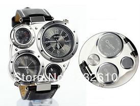 Мужские наручные часы OULM Нескольких часовых поясов часы, термометр, компас  (белый циферблат) ade8a28b764