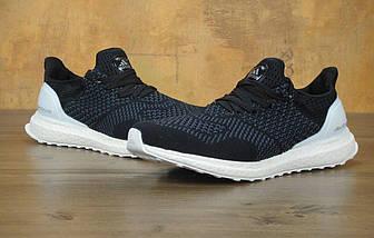 Мужские кроссовки в стиле Adidas Ultra Boost Black/White, фото 3