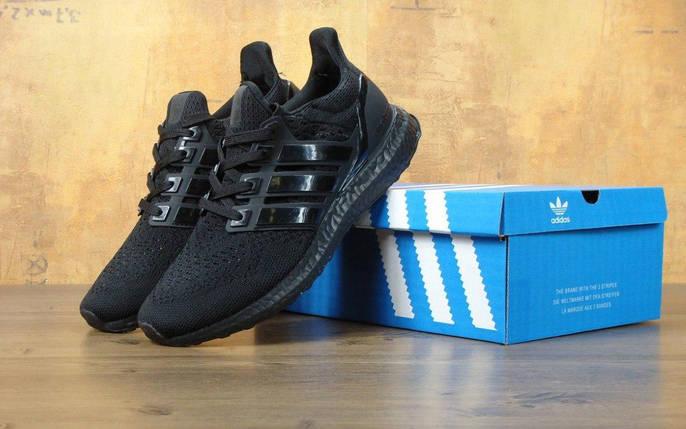 Мужские кроссовки Adidas Ultra Boost Triple Black, фото 2