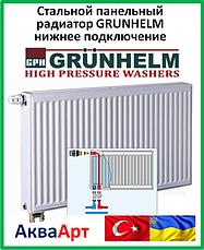 Стальные панельные радиаторы Grunhelm 22 тип нижнее подключение